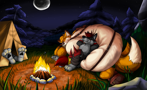 Campfire in the Woods by nexus196