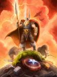 Amon Amarth - 2014 SDCC ComicCon shirt - Odin wins by SamwiseDidier