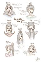 The Avatar Girls by BoffieXD