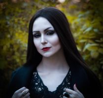 Halloween test - Morticia Addams by ver1sa