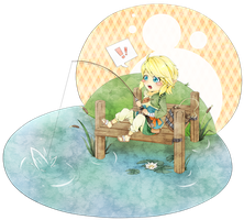 LoZ - Link Fishing by Anneeys