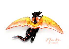 Red Fox Dragon 3 by rosepeonie