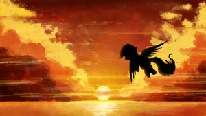 Rainbow Sunset by flamevulture17