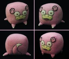 Slowpoke Cube Plush by caffwin