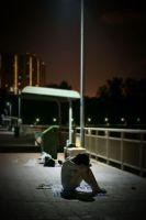 Napping under Streetlamp by alfenneo