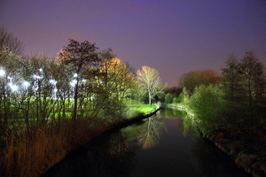 River 'De Dommel' by night by JetteReitsma