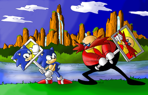 Sonic CD: Panels Battle colors by adamis