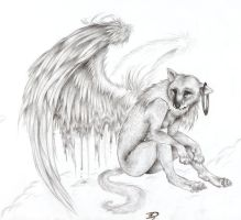 Puppy Anthro- take 7- Angel by HanMonster