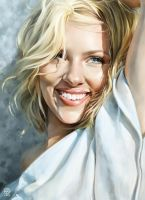 Scarmett Johansson Portrait by CatherineSteuer