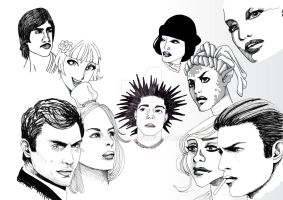 Book Illustration7 Faces by NanoMaji