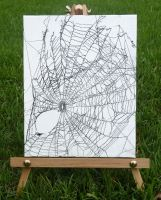 Original Artwork 8 x 10 Spider Web by reginasuarez