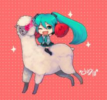 :Hatsune Miku and WRA: by d-clua