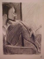 Male Study 3, in Charcoal by CheVD
