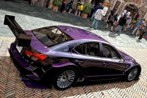 Lexus ISF Concept O8 Purple GT5 by whendt