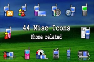 44 icons with a phone by zman3