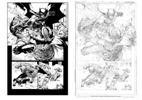 Batman Greg Capullo Inked by ScottForster01