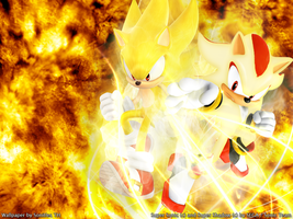 Super Sonic and Super Shadow by Sonitles