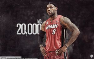 LeBron James 20,000 Points Wallpaper by IshaanMishra