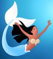 Disney Mermaids: Pocahontas by Willemijn1991