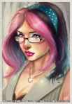 PINK HAIRED LADY by J-Estacado