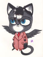 Cat Castiel by ViciousCritter