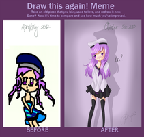 about a year of improvement. by PandaberryX3