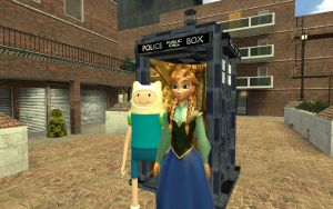 Finn and Anna's TARDIS by The-Real-MARIOWORLDX