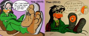 Then and Now by Kyu-The-Fox