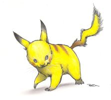 A Meatspace-ish Pikachu by RobtheDoodler
