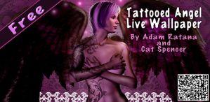 Tattooed Angel Live Wallpaper by catbones