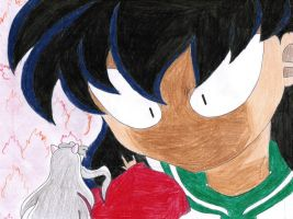 Mad Kagome and Scared Inuyasha by AngelStreetNo23Lover