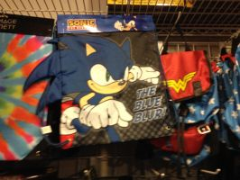 Sonic the Hedgehog cinch up backpack by sonicfan40