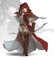 Character Design - Red Hunter by nin-mario64