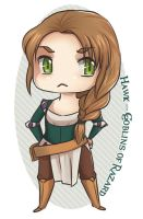 Chibi Hawk by ladyarrowsmith