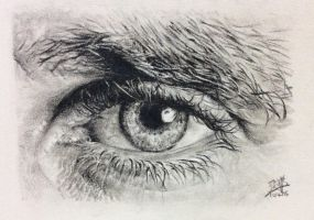 Pencil sketch of an eye by chaseroflight