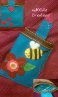 Bee Mine Felt Cozie by Gd00dle
