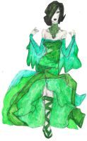 Emerald Flames Goddess by IsaacMonster