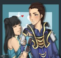 Dynasty Warriors 7 - Sima Xi Lin x Zhuge Dan by WarriorAngel36