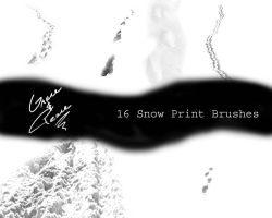 Snow Print Brushes by GraceAndPeace