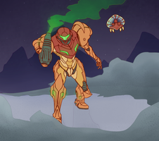 Metroid Prime by MaiArtisticDrawings