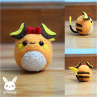 Felted Ribbon Raichu by xxNostalgic
