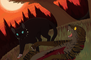 Warriors Tigerstar's Death 2014 by Miiroku
