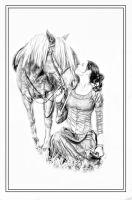 Girl and horse by ditney
