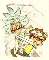 Rick and Morty by Themrock