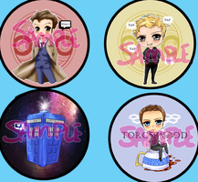 Doctor Who Buttons by Leefuu