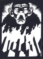 monkey wants DOOM by MikkelSommer