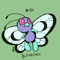 012 Butterfree by toadcroaker