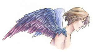 Book art - Angel winged by MeredithDillman