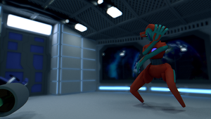 Deoxys - Bad Move [HD WALLPAPER] [3D MODEL] by TheModerator