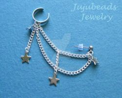 Starry Star Ear Cuff by Julix04